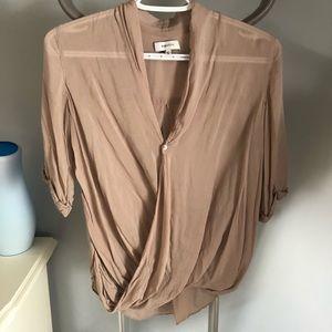 Aritzia wrap blouse / nude / Xxs /